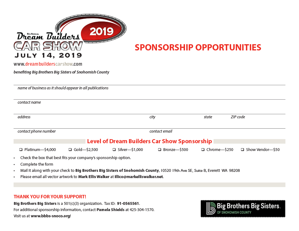 Dream Builders Sponsorship Signup PDF